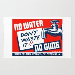 No Water No Guns -- WPA Rug