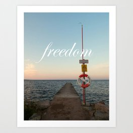 Freedom (with words) Art Print