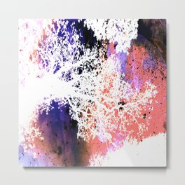 White Trees Colorful Space Metal Print