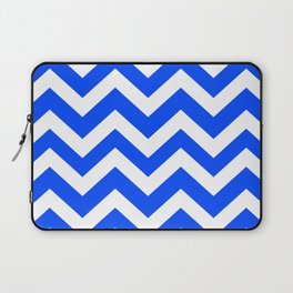 Blue (RYB) - blue color - Zigzag Chevron Pattern Laptop Sleeve