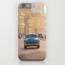 Classic American car on the Malecon in Havana | Travel photography Cuba iPhone Case