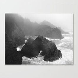 Rain Falling at Oregon's Indian Sands Canvas Print