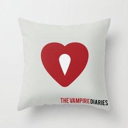 The Vampire Diaries - Minimalist Throw Pillow
