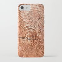 tree rings iPhone & iPod Cases featuring Tree Rings by rebecca haegele