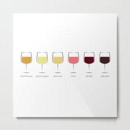 Wine Spectrum Metal Print