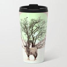 Winter horses Metal Travel Mug
