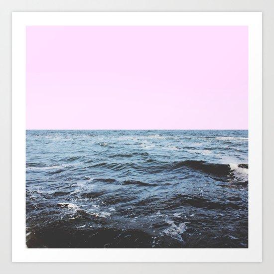 Sea + Pink Art Print