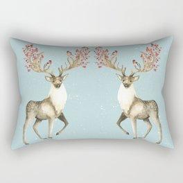 Deers With Birds #society6 #buyart Rectangular Pillow