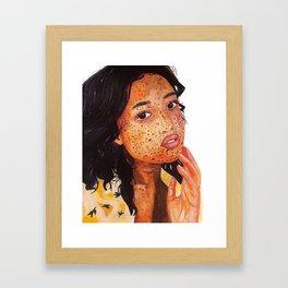 Freckled Girl l Art Print Framed Art Print