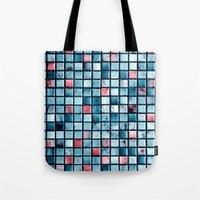 square Tote Bags featuring square by Claudia Drossert