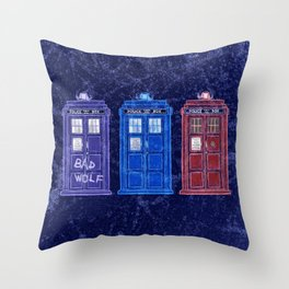 The Doctors' TARDISes Throw Pillow
