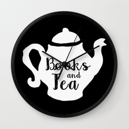 Books and Tea - Inverted Wall Clock