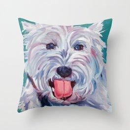The Westie Kirby Dog Portrait Throw Pillow