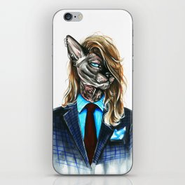 My hipster sphynx iPhone Skin