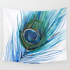 Peacock Feather IV Wall Tapestry