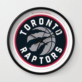 Raptors Roster/Logo Wall Clock