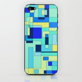 Digital geometric design 3 iPhone Skin