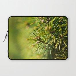 Fir tree green background Laptop Sleeve