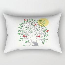 Look What Fluffy Sees! Rectangular Pillow