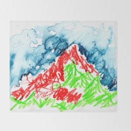 up to the hill Throw Blanket