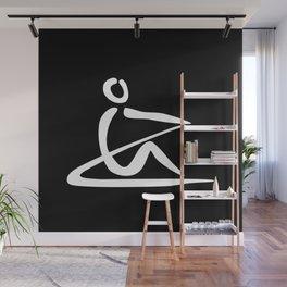 Rowing Logo 1 white Wall Mural