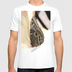 Bulls Eye Butterfly White MEDIUM Mens Fitted Tee
