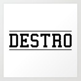 Destro University Art Print