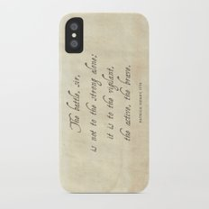 The Battle by Patrick Henry Slim Case iPhone X