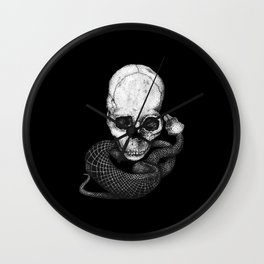 Skull and snake Wall Clock