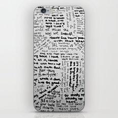 Song Lyrics iPhone & iPod Skin