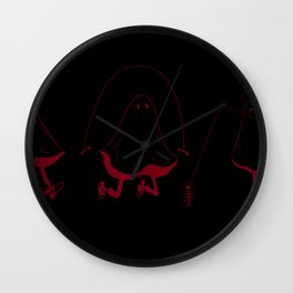Ghosts with Hobbies Wall Clock