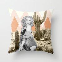 arizona Throw Pillows featuring Arizona by Kristen Chamberlain