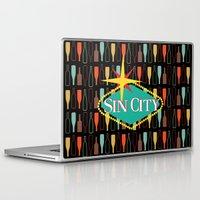 sin city Laptop & iPad Skins featuring Sin City by Chelsea Dianne Lott