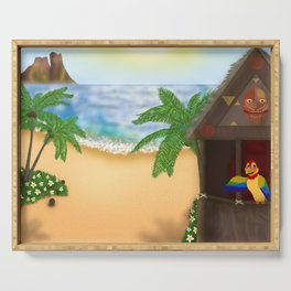 """""""Welcome to Polynesian Paradise"""" Serving Tray"""