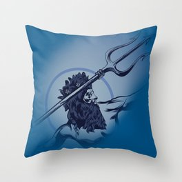 Poseidon God Of the Sea Throw Pillow
