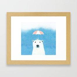 Say hello polar bear Framed Art Print