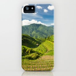 Landscape photo of rice terraces in China iPhone Case