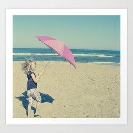 Beach Whirl Art Print