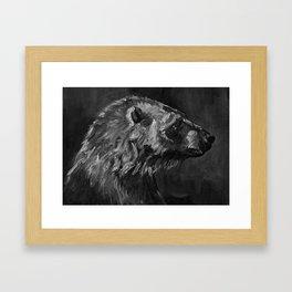 Polar Bear Alert Framed Art Print