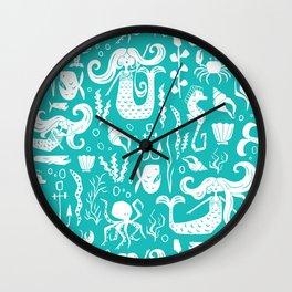 Under The Sea Aqua Wall Clock