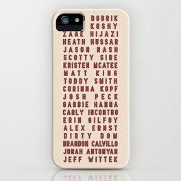 Vlog Squad Cream Patch iPhone Case