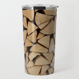 Wooden textures of different materials and execution techniques Travel Mug