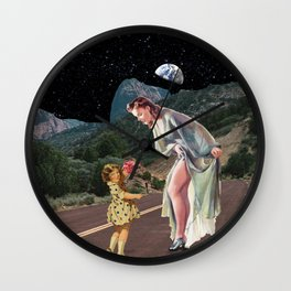 Mom and daughter Wall Clock