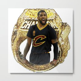 KYRIE RING CAVS Metal Print