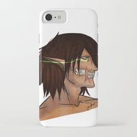 attack on titan iPhone & iPod Cases featuring Titan Form by JemyArt