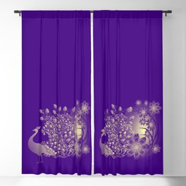 The Midnight Peacock Blackout Curtain
