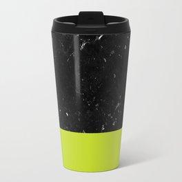 Lime Punch Meets Black Marble #1 #decor #art #society6 Travel Mug