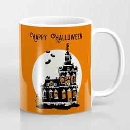 Vintage Style Haunted House - Happy Halloween Coffee Mug