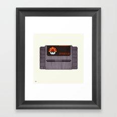 Nostalgia in a Super Nintendo Cartridge Framed Art Print