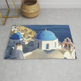 Santorini, Greece Rug